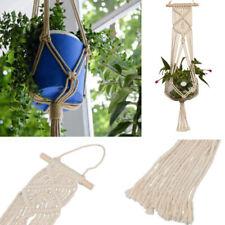 Pot Holder Macrame Plant Hanger Hanging Planter Basket Jute Braided Rope Craft