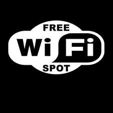 Free WiFi Business Vinyl Decal Sticker Car Window Wall Truck Wireless Store Sign
