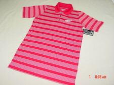 NWT Men's Detroit Red Wings Short Sleeve Polo Shirt Hockey Michigan Striped Fan