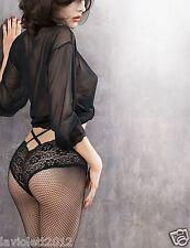 Gatta Dione  01  Ars Amandi sehr verführerische Netzstrumpfhose mit Spitzenslip