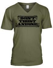 Dont Trust Anyone Eye of Providence Illuminati Conspiracy Mens V-neck T-shirt