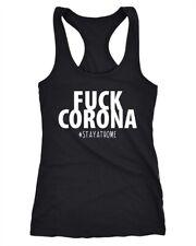 Damen Tanktop Fuck Corona #stayathome Statement Appell Pandemie