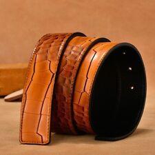 3.8CM pour Hommes en Cuir Véritable Ceinture Peau de Crocodile Sangle Taille c8c1093660c