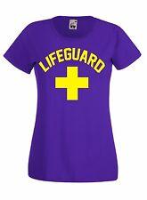 T-shirt Maglietta J662 Lifeguard Salvataggio Guard Coast Maglia Donna in Cotone