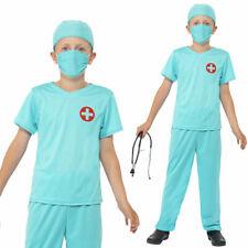 bambini Surgeon Costume MEDICO INFERMIERA Scrubs MEDICA Vestito Smiffys 41090
