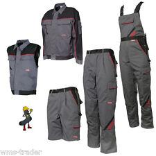 Pantalon/veste De Travail Gilet Courte Salopette ardoise/noir/rouge