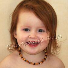 Bernstein Zahn Kette Bernsteinkette Babykette ab 36 Monate Kinder Baby Amber kid