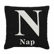 "Words Cushion, ""Nap"", Chenille Jacquard Finish"