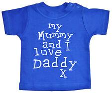 "Papá Camiseta para bebé "" Mi Mamá & I Love "" Niño Niña Cumpleaños Regalo De"