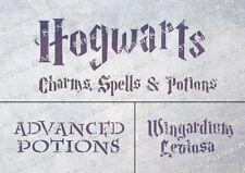 Hogwarts 3 sizes STENCILS HM1 Spells Furniture Crates Walls, SUPERIOR 250 MYLAR