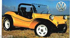 1967 VW DUNE BEACH BUGGY SPEC SHEET/Brochure: HUSTLER