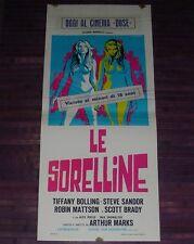 TIFFANY BOLLING, LE SORELLINE (BONNIE'S KIDS), LOCANDINA, ARTHUR MARKS, THRILLER