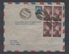 1949 ITALY REPUBBLICA DEMO 5 LIRE+20 LIRE 4INA GENOVA 2/5 PER OHIO A/4663