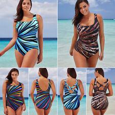 Damen Monokini Einteiler Bademode Badeanzug Strand Bikini Übergroß 40 42 44 46