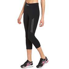 Slazenger Womens High Waist 3/4 Three Quarter Capri Running Gym Tight Leggings