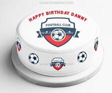 Any Football Team Badge Edible Icing, Sugar Topper or Ribbon for Birthday Cake