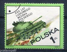POLOGNE 1973, timbre 2115, ARMEE POLONAISE, CHAR de COMBAT, oblitéré