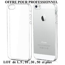 iPhone 5 5S SE - Coque(s) transparente(s) gel souple et invisible(s) de qualité