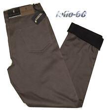 Pantalone uomo termico dal 46 al 62 jeans interno pile strech imbottito fango
