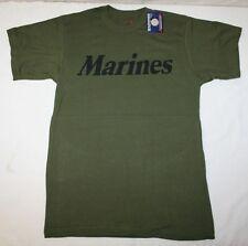 """"""" Marines """"  OD GREEN MENS  T-Shirt  USMC  PT  T-SHIRT S-M-L-XL 2X-3X-4X"""
