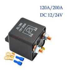 12V 24V Heavy Duty Split Charge 120A/200A AMP 4 Pin Relay + Terminals Fo Car Van