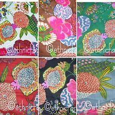 Indian Natural Cotton Handmade Fruit Tropicana Screen Print Fabric Jaipuri craft
