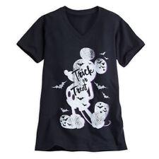 Disney Store Halloween Trick or Treat Mickey Mouse Shirt Glitter Bats X Small
