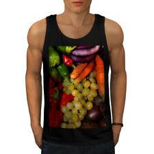 Wellcoda Vegetable Fruit Mix Mens Tank Top, Vivid Active Sports Shirt