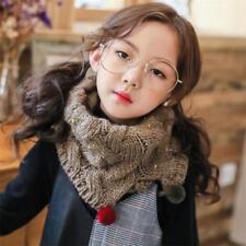 Kids Caldo Sciarpe Collo Lavorato a Maglia Gilet imbottiti Crochet Bambino Scialli Inverno Avvolgere Regali
