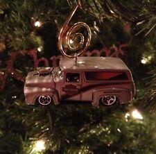Harley Davidson '55 '56 '57 Ford Panel Truck Custom Christmas Ornament 1/64th