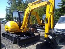 JCB 8060 Mini Escavatore COMPLETO CROMO decalcomania Set con Safty AVVERTIMENTO