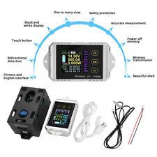 Wireless LCD Digital DC 0~400V 0~300A Voltmeter Ammeter Watt Tester Power Meter