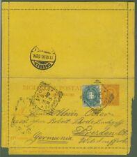 Regno.Biglietto post. da cent. 20 con cent. 5 verde
