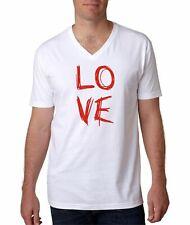 Hot4TShirts Next Level Love Graphic Graffiti Valentine's Day V-Neck T-Shirt Men