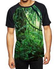 Tropical Jungle Forest Men's All Over Baseball T Shirt - Summer Wild Trees