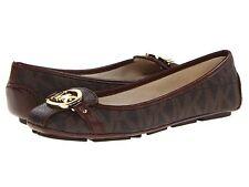 Michael Michael Kors Fulton Brown MK Logo Flat Shoes