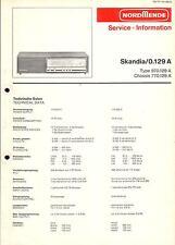 Nordmende Original Service Manual für Skandia 0.129A