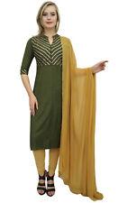 atasi grün gerade salwar kameez designer indische bollywood ethnische anzug set