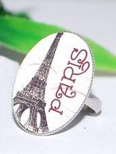 PARIS Ring +++ AUSWAHL ++ Vintage shabby chic Fingerring verstellbar silber Glas