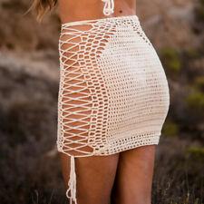 Handmade Crochet Skirt Beach Sexy Skirt unlined Gypsy Hippie Rave Festival Style