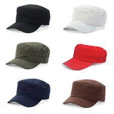 Mens Cotton Army Plain Hat Classic Solid Cadet Combat Military Cap Baseball Hats