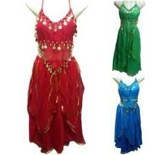 Danza Del Vientre Tribal Monedas Traje Belly Dance Vestido Falda Blusa Carnaval