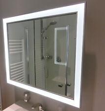 Heibad Universal Spiegelschrank für Nischeneinbau mit LED-Beleuchtung Höhe 855mm