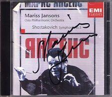 Mariss JANSONS Signiert SHOSTAKOVICH Symphony No.5 CD Schostakowitsch Sonfonie