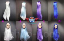 "1/6 Scale Hair Wig Multi Colors For 12"" Female Head Sculpt Doll Accessory"