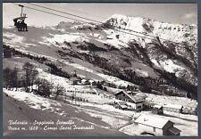 VERCELLI SCOPELLO 20 VALSESIA MERA SEGGIOVIA NEVE SCI Cartolina FOTOGRAFICA 1960