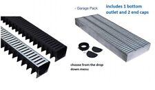 Garage Pack 3 x 1 M canale con plastica/zincato Grattugia canale