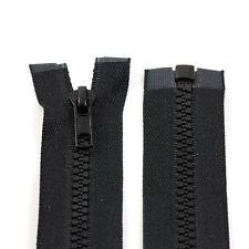BLACK 10'' - 32'' INCH CHUNKY NO.5 OPEN END ZIPS PLASTIC SEW ON ZIPPER NZ1332