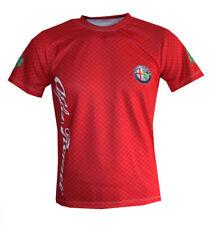 Alfa Romeo logo red unique handmade sublimation graphic men's t-shirt