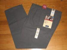 Mens Dockers Original Khaki Dress Pants Classic Fit Pleated Gray Tweed New